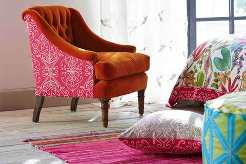 Decoración colorida de dormitorio en Vigo
